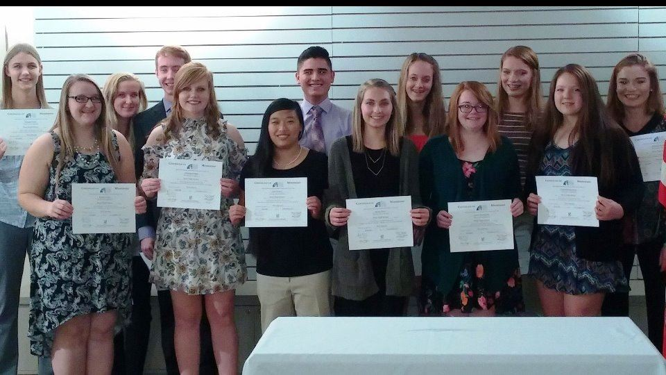 Students inducted into Wray High School Chapter of Rho Kappa