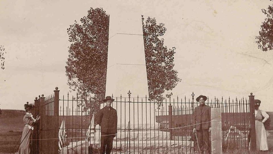 Beecher Island Monument taken in 1906