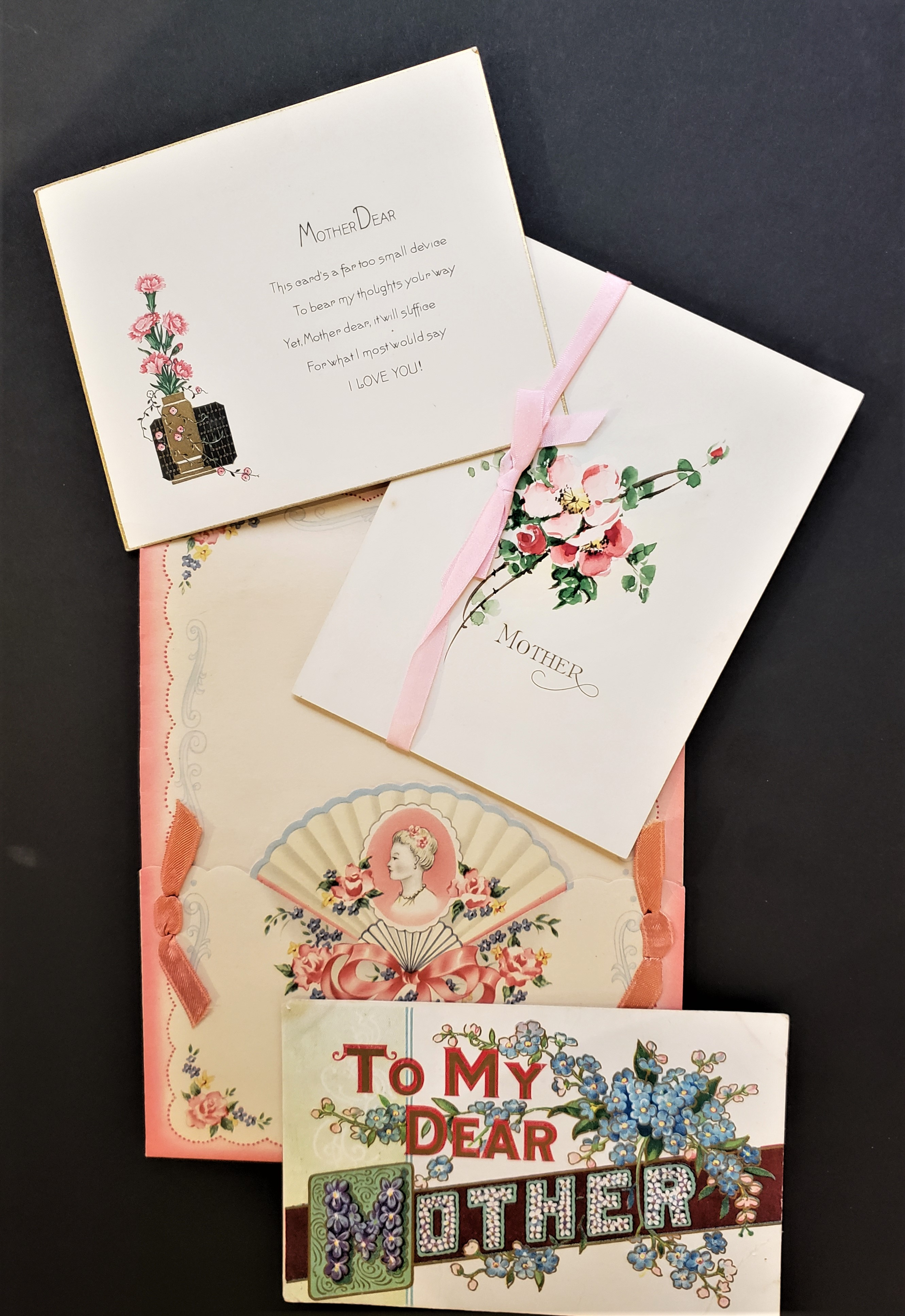 Photograph of a group of Mothers Day Card