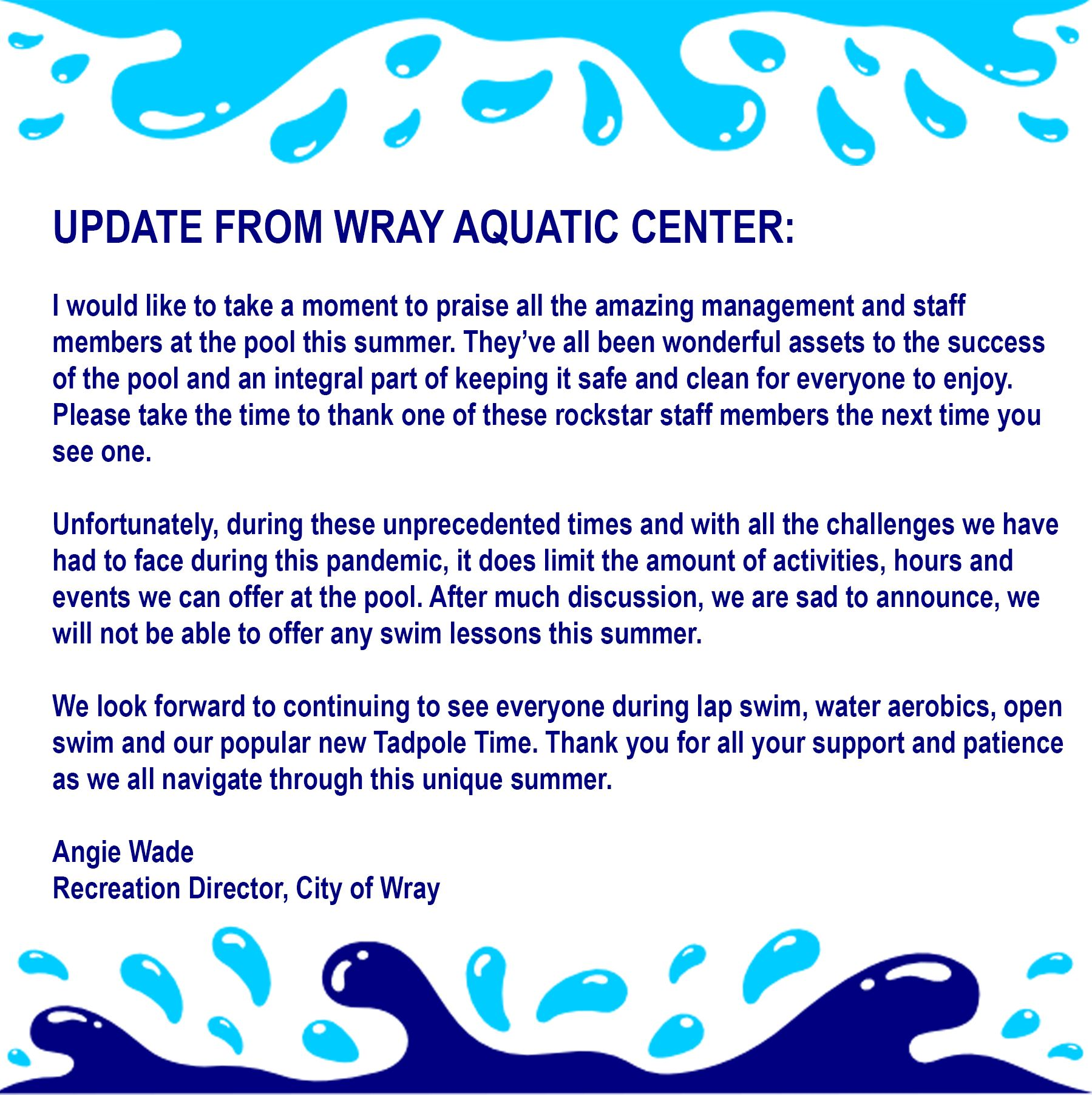 Update from WAC