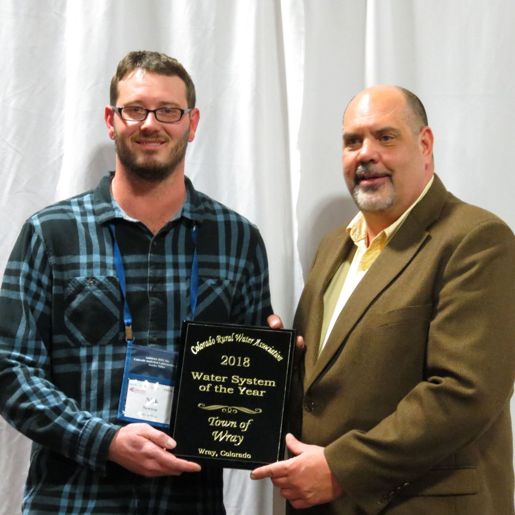 Nick Newton Receives Water System of the Year Award