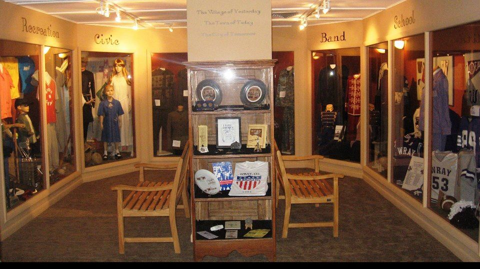 Rotating Gallery Exhibits featuring band, school, recreational and civic club uniforms
