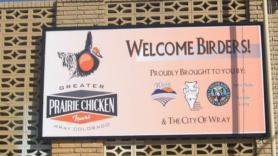 Prairie Chicken Sign on west side of the Wray Museum