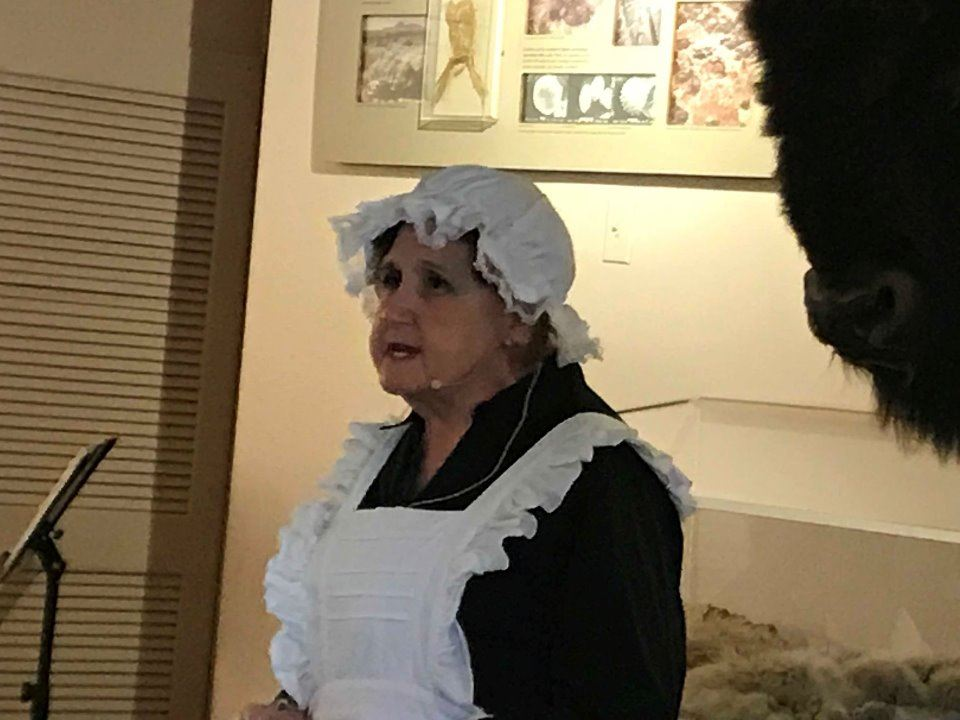 Women portraying an Irish maid